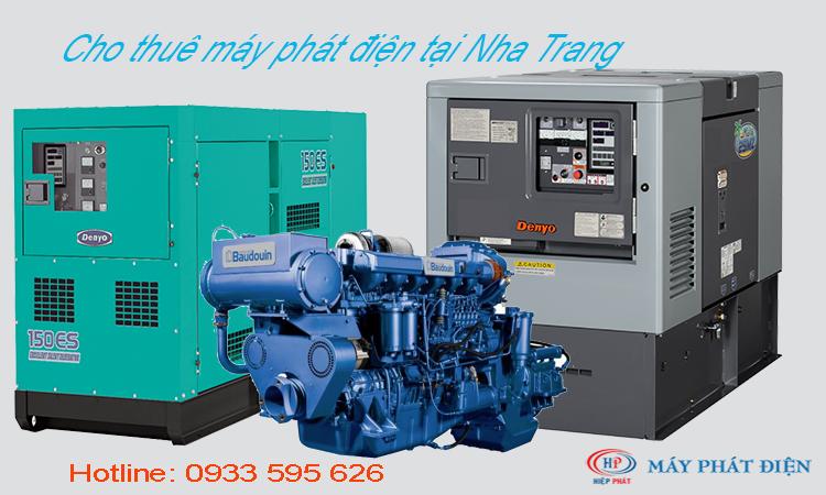 Cho thuê máy phát điện tại Nha Trang