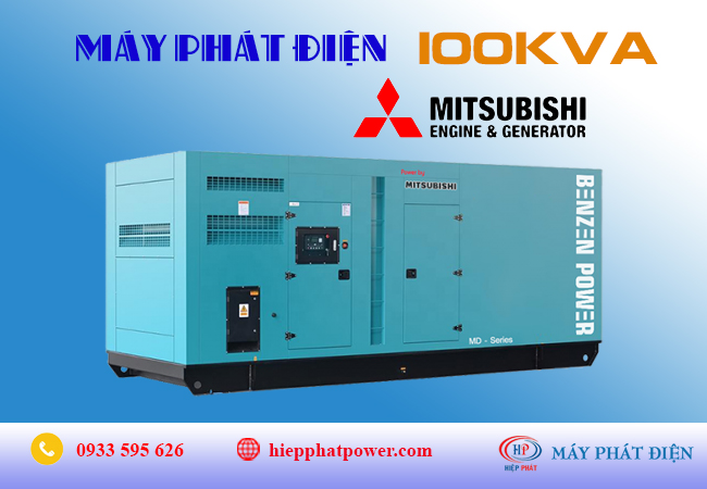 Máy phát điện Mitsubishi 100kva